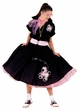 Deluxe Adult Black Poodle Skirt