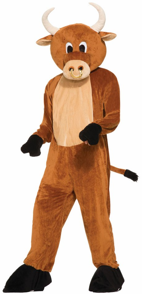 Deluxe Adult Brutus The Bull Mascot Costume Candy Apple