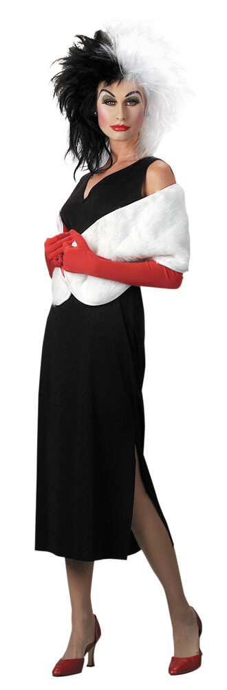 deluxe adult disney cruella de vil costume villain costumes. Black Bedroom Furniture Sets. Home Design Ideas