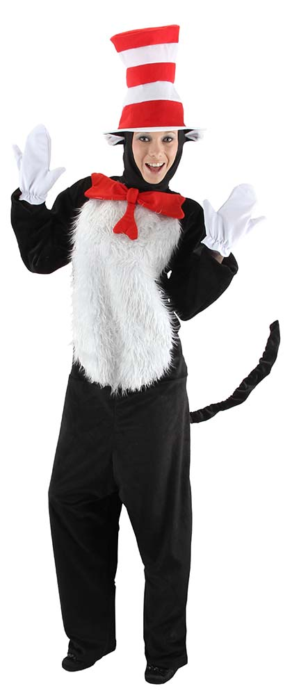 03ecb7a2 Deluxe Adult Dr. Seuss Cat in the Hat Costume - Candy Apple ...
