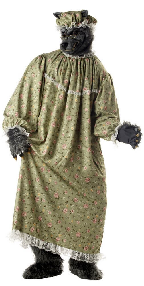 Deluxe Adult Granny Wolf Costume Candy Apple Costumes Funny Costumes