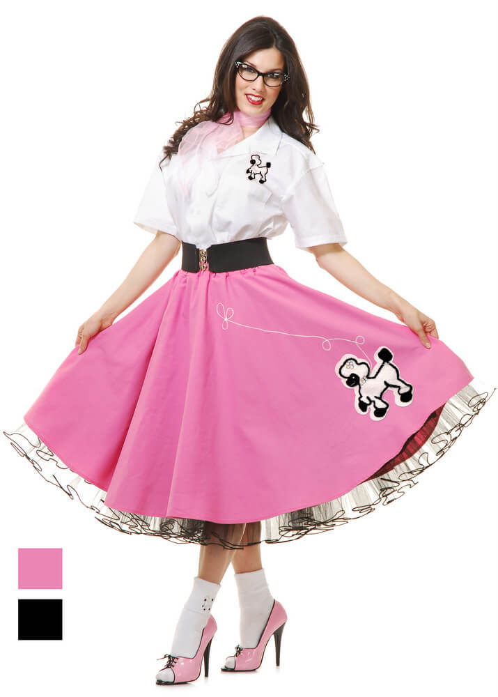 d077989d2fcea Deluxe Adult Complete Poodle Skirt and Shirt Costume Set - Candy ...