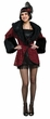 Deluxe Adult Red Flapper Coat Costume, Size S/M