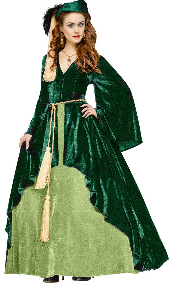 Deluxe Adult Scarlett O\'Hara Green Drapery Gown Costume - Candy ...