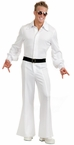 Deluxe Adult White 70's Bell Bottom Studio Jumpsuit