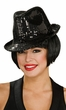 Deluxe Black Sequin Fedora Hat