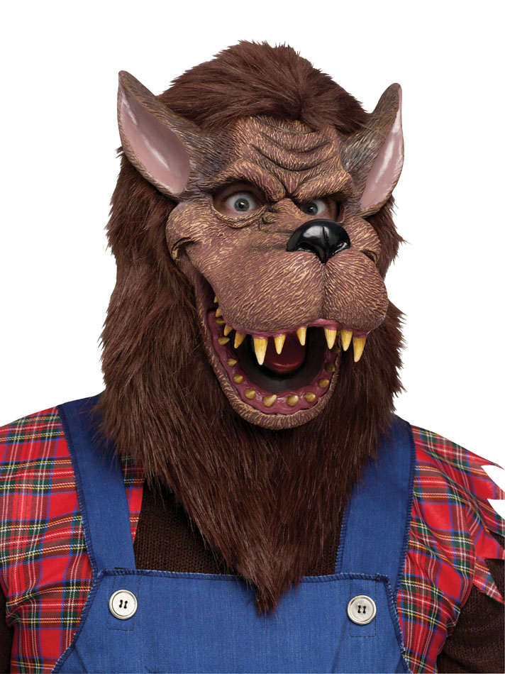 Deluxe Brown Big Bad Wolf Mask  sc 1 st  Candy Apple Costumes & Deluxe Brown Big Bad Wolf Mask - Candy Apple Costumes - Funny Costumes