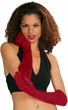 Deluxe Deep Red/Burgundy Velvet Gloves