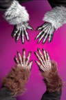 Deluxe Faux Fur Werewolf Gloves - More Colors