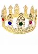 Deluxe Gold Filigree Metal Jeweled Crown