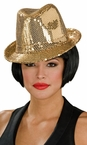 Deluxe Gold Sequin Fedora Hat