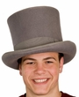 Deluxe Wool Top Hat - Gray or Black