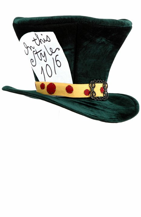 Deluxe Green Adult Mad Hatter Top Hat - Candy Apple Costumes - Pop Culture 73f922d82ad