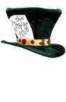 Deluxe Green Adult Mad Hatter Top Hat