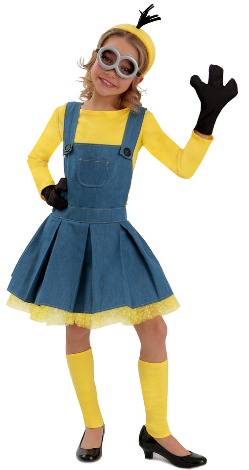deluxe minions girls jumper costume