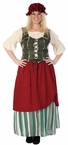 Deluxe Plus Size Adult Renaissance Tavern Wench Costume