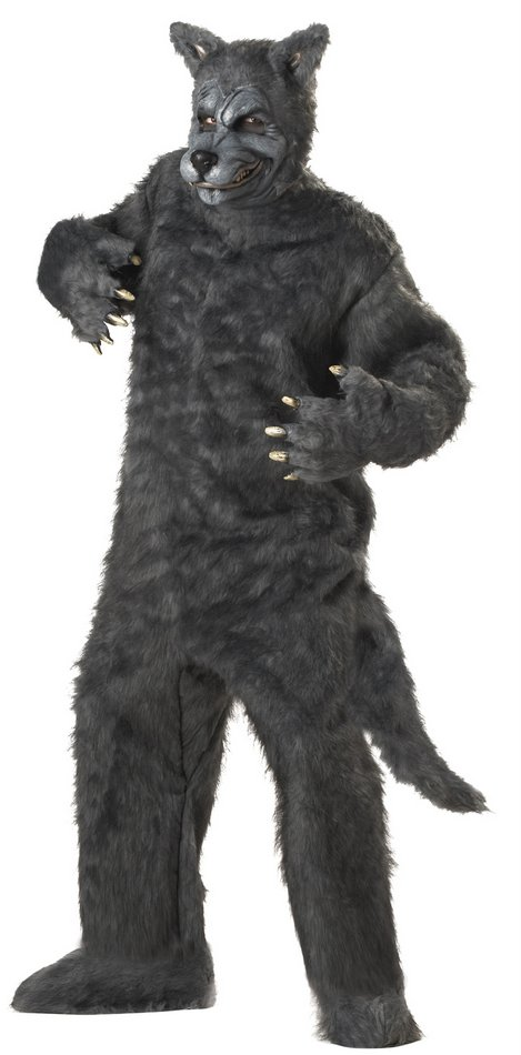 Deluxe Plus Size Big Bad Wolf Costume Candy Apple Costumes 3x