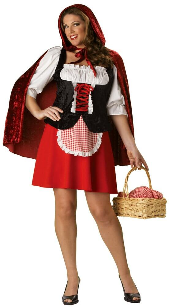 1848980234a Deluxe Red Riding Hood Costume (Plus Size) - Candy Apple Costumes - 3X and  4X Costumes