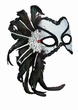 Deluxe Silver Venetian Carnival Mask With Feathers