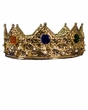 Deluxe Theatrical Gold Metal King Crown