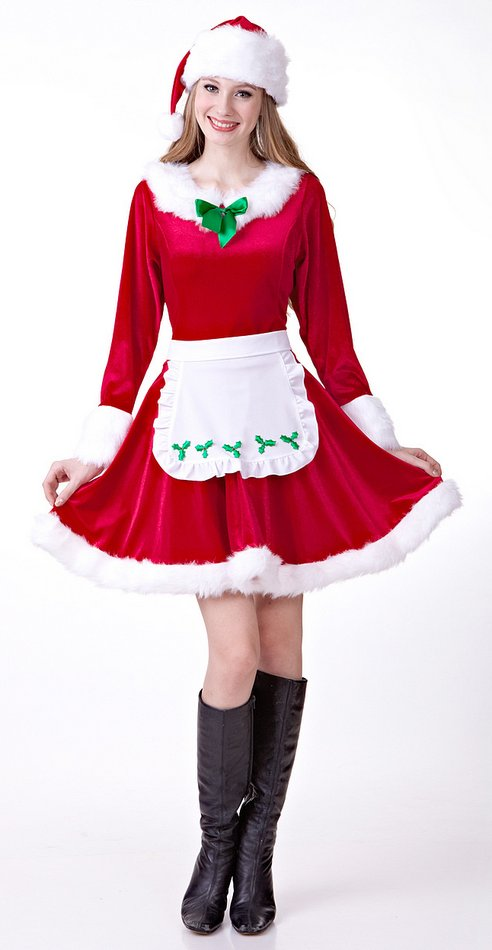 Deluxe women s mrs santa claus costume candy apple