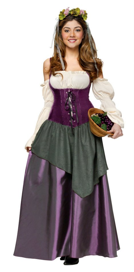 Deluxe Women\'s Renaissance Tavern Wench Costume - Candy Apple ...