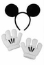 Disney Mickey Mouse Ears Headband and Gloves Set