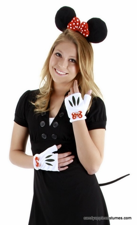 Disney Minnie Mouse Ears, Gloves  Tail Costume Kit