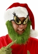 Dr. Seuss Grinch Santa Hat with Beard