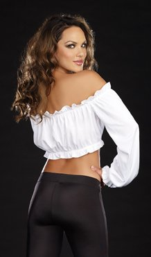 5ca5d9a64a5 Dreamgirl Peasant Cropped Top - Candy Apple Costumes - Colonial ...
