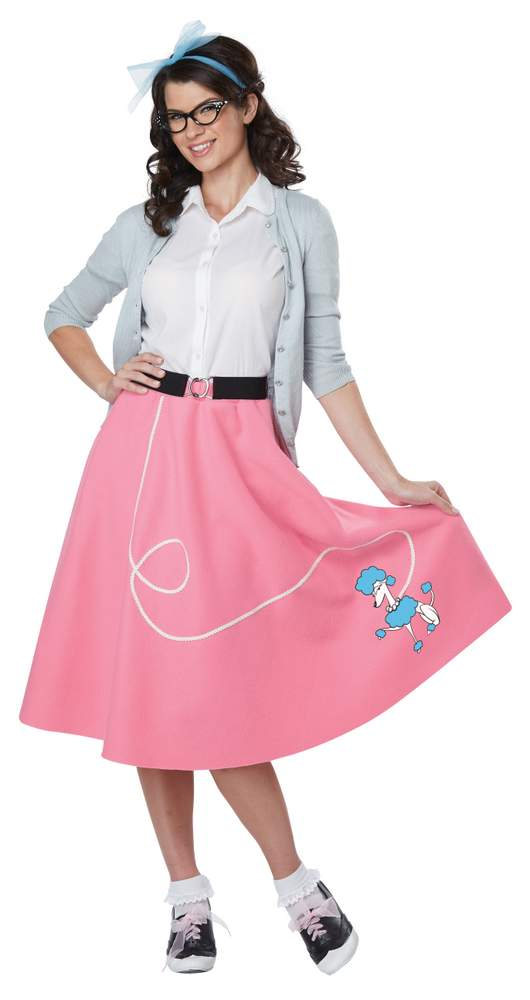 af186a5e10c96 Economy Adult 50's Pink Poodle Skirt - Candy Apple Costumes - 50's ...