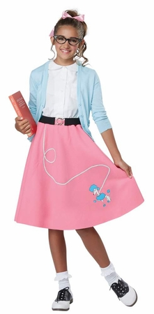 Economy Child's 50's Pink Poodle Skirt