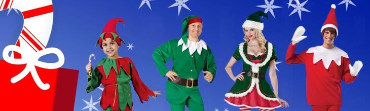 Elf and Santa's Helper Costumes