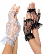 Fingerless Lace Wrist Ruffle Gloves