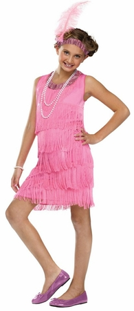 Girls' 1920's Pink Flapper Costume