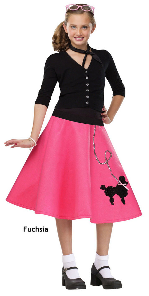 Childu0026#39;s Poodle Skirt - More Colors - Candy Apple Costumes - Poodle Skirts