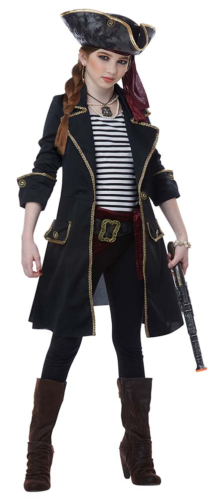High Seas Captain Pirate Girl Costume