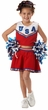 Girls' Red Patriotic Cheerleader Costume