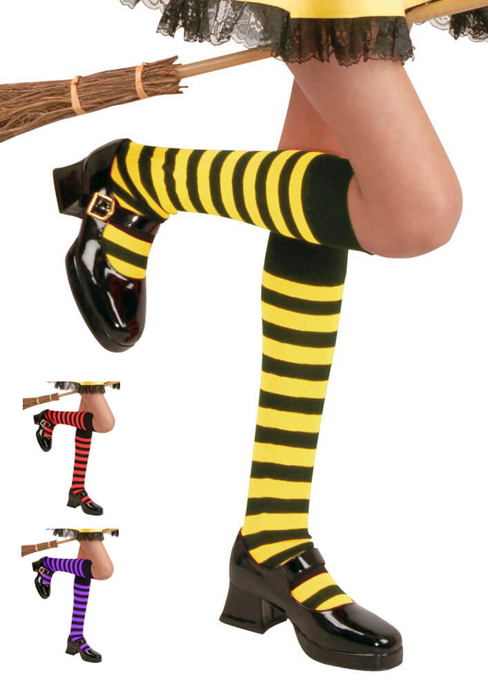 25dcbf0f82c7a Girls' Striped Knee High Stockings - More Colors - Candy Apple ...