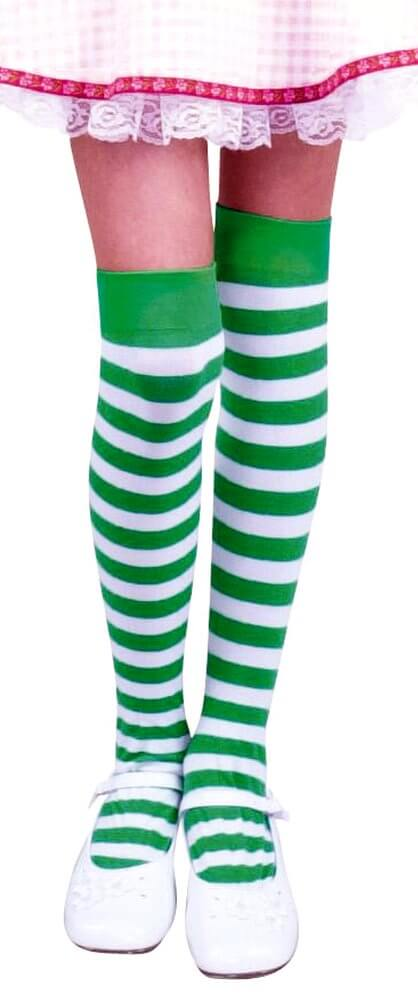 58954cee6 Girls Striped Thigh Highs - More Colors - Candy Apple Costumes - Elf ...