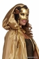 Gold Fancy Masquerade Hooded Cape