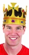 Gold Glitter Jeweled King Crown