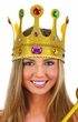 Gold Glitter Jeweled Queen Crown