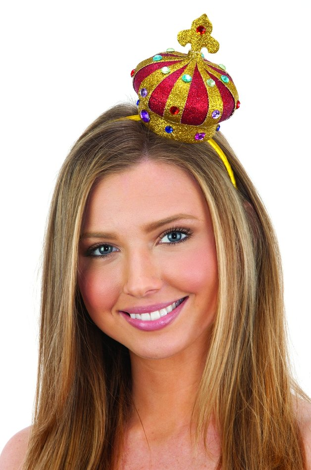 Gold Red Glitter Mini Jeweled Queen Crown Headband - Candy Apple Costumes -  Castles and Thrones Costumes cbafc4968ef