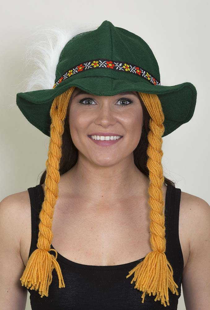 1fb50a16 Green Alpine Hat with Yarn Braids - Candy Apple Costumes ...