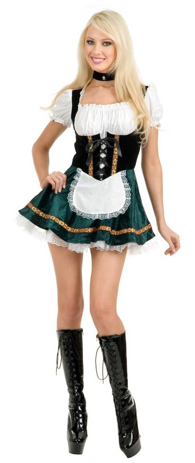Adult Green Beer Garden Girl Costume  sc 1 st  Candy Apple Costumes & Green Beer Garden Girl Costume - Womenu0027s Oktoberfest Costumes ...