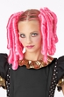 Hot Pink Clip on Anime Curls Pigtail Wig and Hairscara