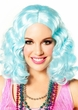 Icy Blue Party Flapper Wig