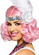 Icy Pink Party Flapper Wig