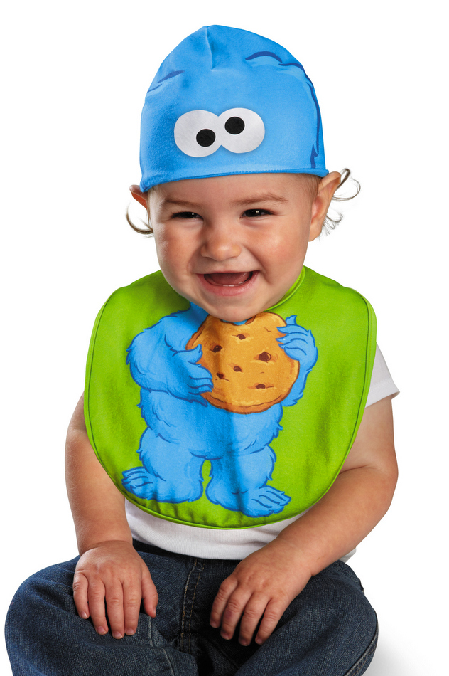 Infant Cookie Monster Bib and Hat  sc 1 st  Candy Apple Costumes & Infant Cookie Monster Bib and Hat - Candy Apple Costumes - Sesame ...